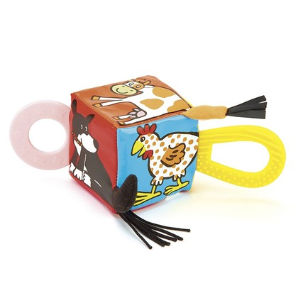 Farm Tails Teether Cube
