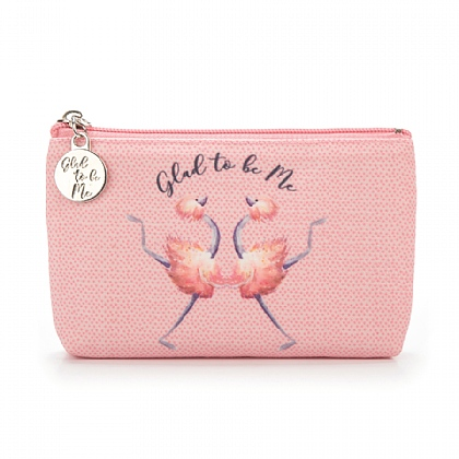 Glad to Be Me Pink Pouch