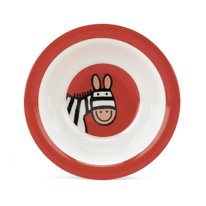 Jelly Zebra Melamine Bowl