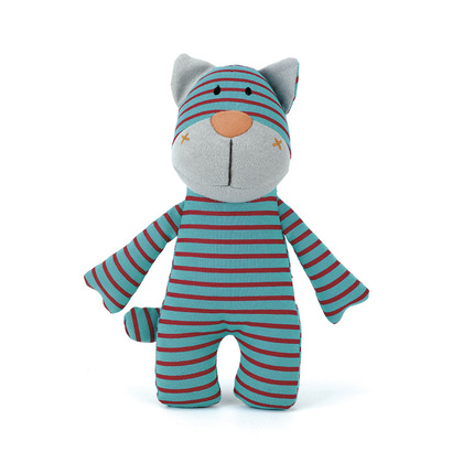 Stripey Blue Cat Rattle