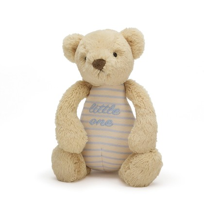 Little One Bear Blue Rattle