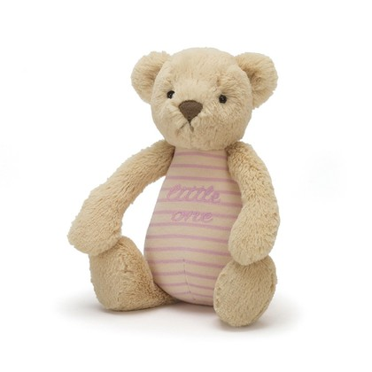 Little One Bear Pink Rattle