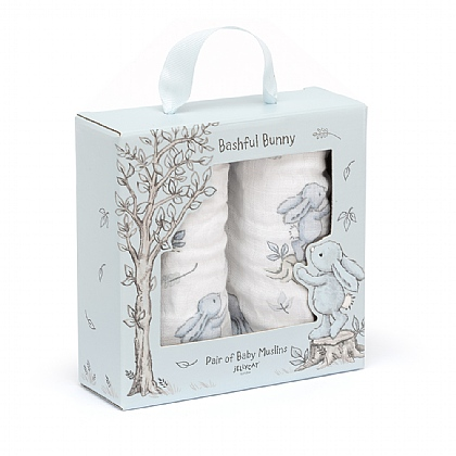Bashful Blue Bunny Pair Of Muslins