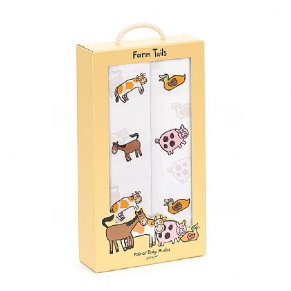 Farm Tails Pair Of Swaddles