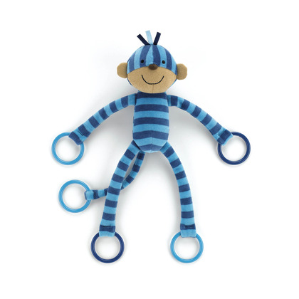 Blueberry Monkey Rattle