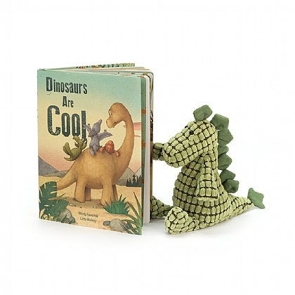 Dinosaurs Are Cool Book and Dino Doppy