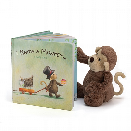 I Know A Monkey Book and Bashful Monkey