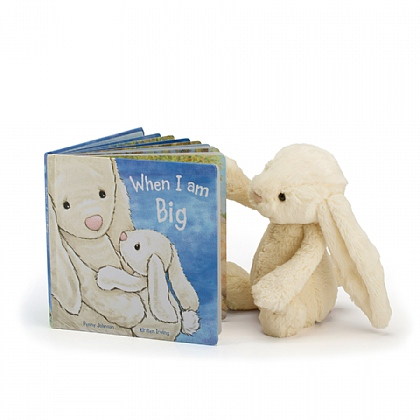 When I am Big Book and Bashful Cream Bunny