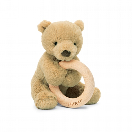 Shooshu Bear Wooden Ring Toy