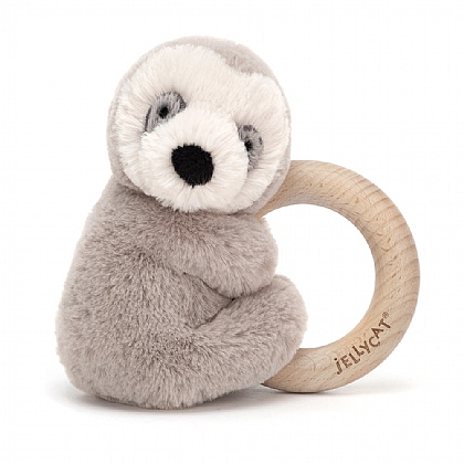 Shooshu Sloth Wooden Ring Toy