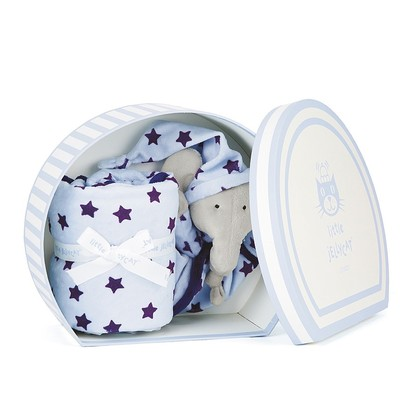 Starry Nights Blue Elephant Comforter