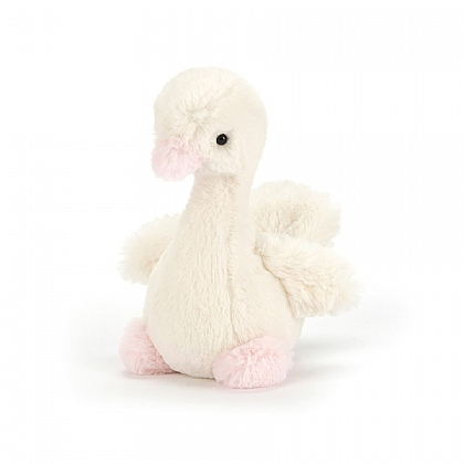 Syllabub Swan Pink Rattle
