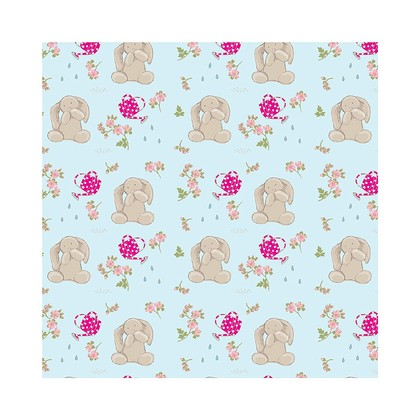 Wrapping Paper Bashful Bunny