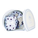 Starry nights blue elephant comforter snc2e
