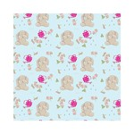 Wrapping paper bashful bunny wrp25bb