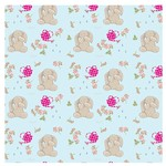 Bashful natural bunny wrapping paper wrp25bn